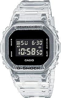"""ساعة للرجال من """"كاسيو"""" موديل جي-شوك رقمية بسوار من البلاستيك المطاطي لون خاص DW-5600SKE-7DR"""