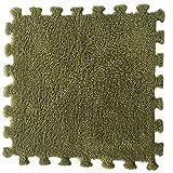 Janly Clearance Sale Decoración del hogar, 11.81 pulgadas cuadrado rompecabezas poliéster terciopelo alfombra ecológica en 14 colores, para Navidad hogar y decoración del jardín, (multicolor)