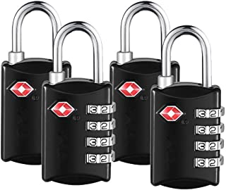 4 Pack Luggage Locks Approved Travel Combination Luggage Locks