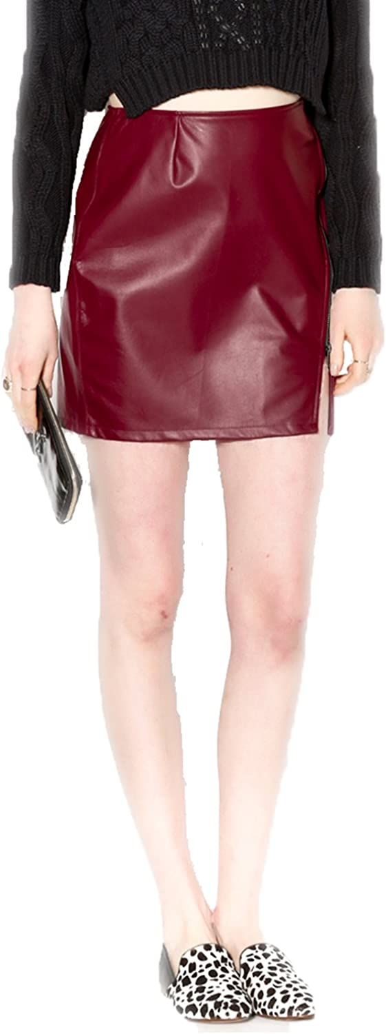 Benjamin Jay Womens Zoe Leather Skirt Extra Small, Small, Large