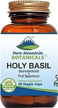 Holy Basil Capsules - 60 Kosher Vegan Caps with 450mg Organic Holy Basil Tulsi & Holy Basil Extract from India