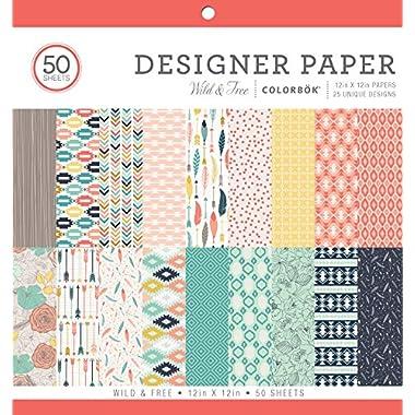 ColorBok 73480A Designer Paper Pad Wild & Free, 12  x 12