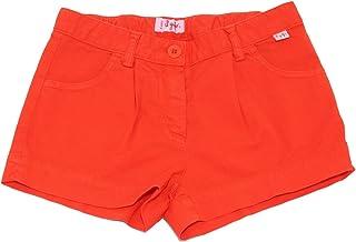 Il Gufo 5611AB Bermuda Bimba Girl Orange Denim Garment dyed Shorts Kid