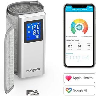 Koogeek Tensiómetro de Brazo Digital Bluetooth/WIFI, Monitor Automático de Presión Arterial, Medir la Frecuencia Cardíaca, FDA y CE Certificado con Gran LCD Pantalla Conectado con App para iOS/Android