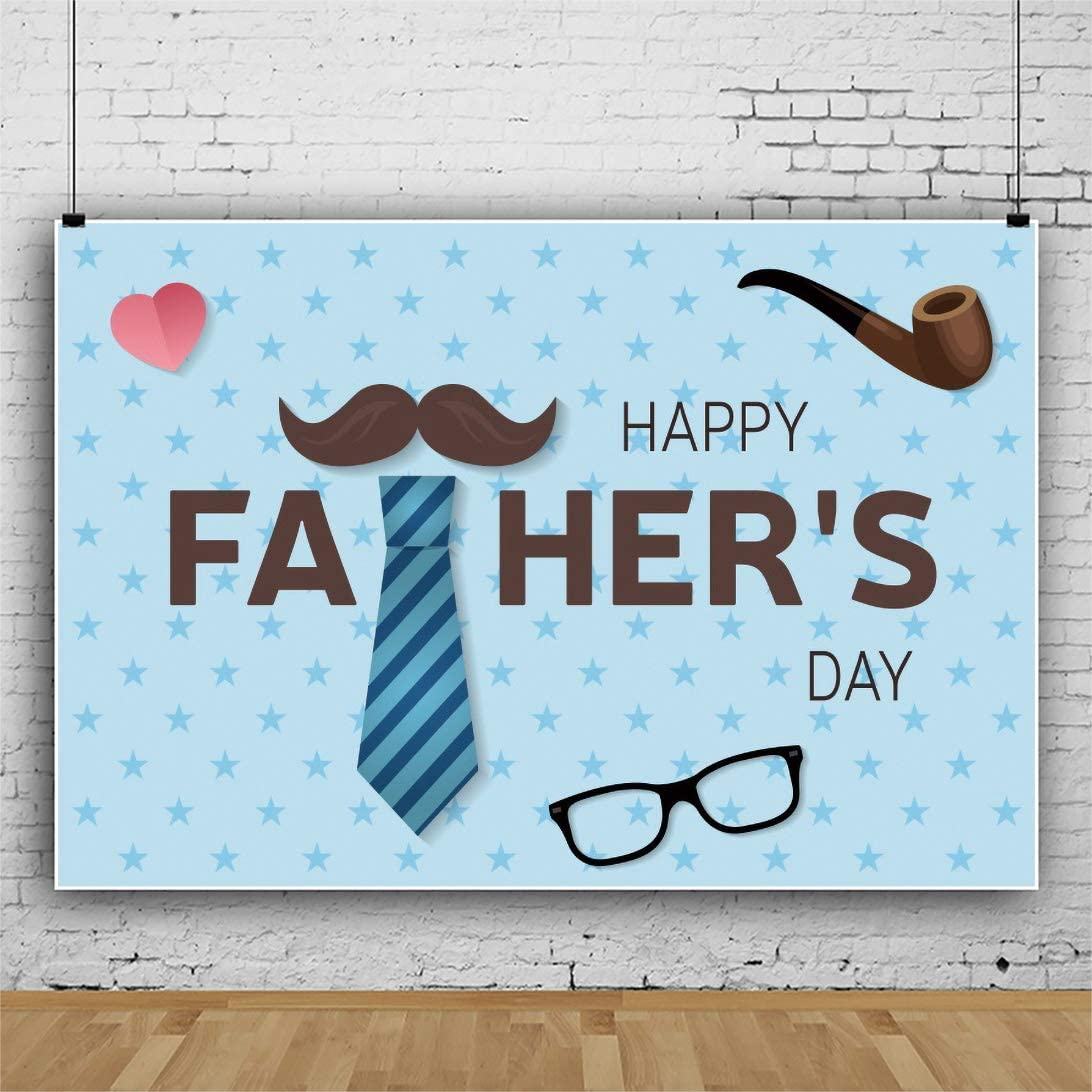 Leowefowa Superior Durable Fabric Happy Father's Day Backdrop 10x8ft Courier shipping free shipping Toba