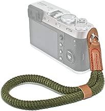VKO Green Cotton Soft Camera Wrist Strap, Hand Strap Compatible for Fujifilm X-T30 X-T3 X100F X-T20 X-T2 X-Pro2 X-E2 X30 X100S X100T OM-D E-M10 II III Pen-F Cameras Adjustable Safety Handstrap