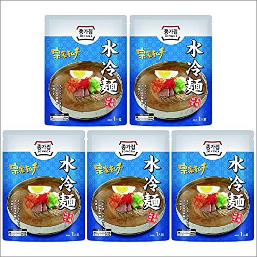 水冷麺 韓国冷麺 冷麺 5袋 セット 細麺 麺 コシ 牛だし スープ 韓国 韓国料理 人気 本場の味