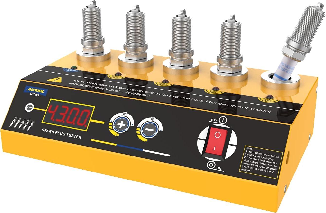 AUTOOL SPT360 Car Spark Plug Tester Ignition Tools, Diagnostic S