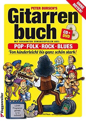 Gitarrenbuch, m. CD-Audio, Bd.1, Mit bekannten Liedbeispielen aus Pop, Folk, Rock & Blues von kinderleicht bis ganz schön stark