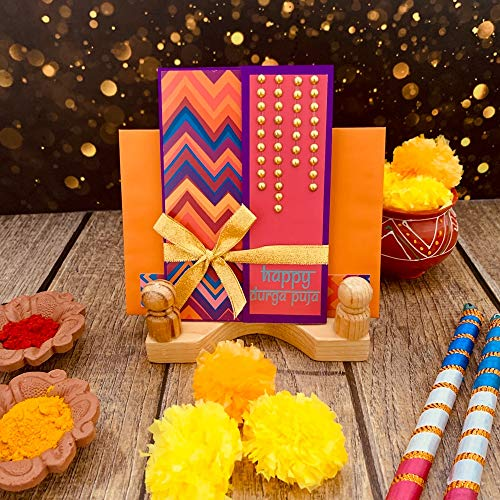Crack of Dawn Crafts 3 Layered Card Chocolate Box - Purple Pataka for Diwali Dussehra Durga Puja Contains Chocolates Worth Rs. 120