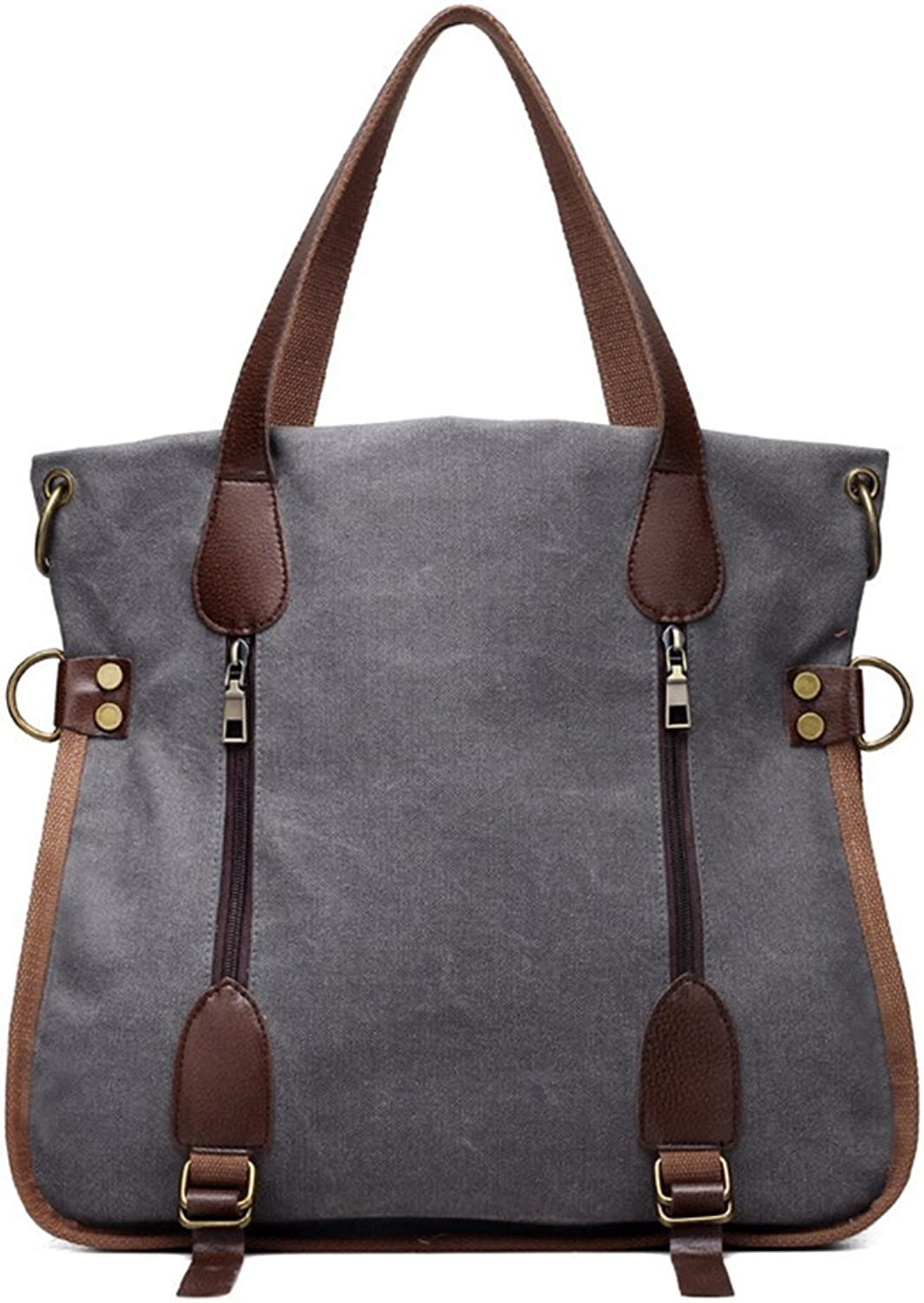 Women's Canvas Bag Casual Retro Shoulder Bag Large-Capacity Handbag Messenger Bag Shopping Bag.
