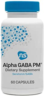 NeuroScience Alpha GABA PM - Sleeping Supplement with High Dose 400mg L-Theanine - Melatonin, Valerian Extract + 5-HTP for...