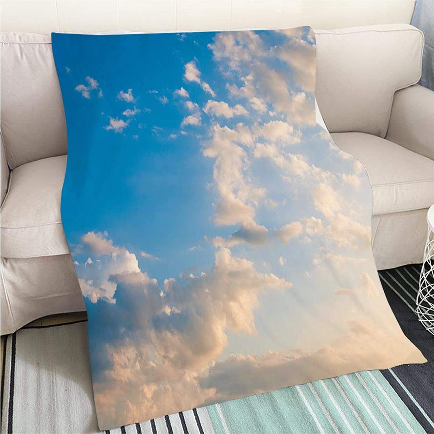 BEICICI Art Design Photos Cool Quilt Damatic Sunset Sky Fun Design All-Season Blanket Bed or Couch
