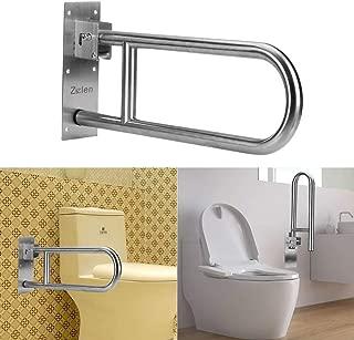 Handicap Grab Bars for Bathroom Toilet Flip Up Grab Safety Bars for Elderly Handicap Shower Stainless Steel Grab Bar Handrails Support Safety Rails Shower Hand Rail Folding Assist Grip Bar