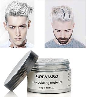 Crema de tinte de color blanco mate, peinado instant&