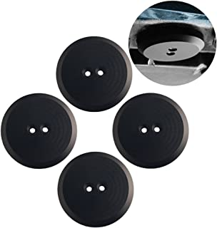 Dewhel Jack Pad Adapter Billet Anodized Black Aluminum Floor Jack For Corvette C7/C6 Premium bolt on Jack Points - 4 pack