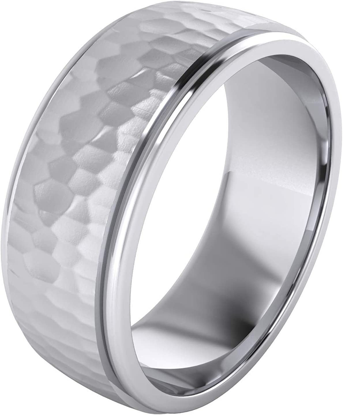 Heavy Solid Sterling 特売 早割クーポン Silver 6mm 8mm Wedding Unisex and Hammered