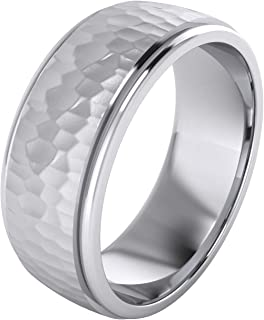 mens silver wedding rings