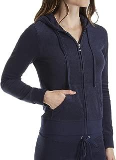 Juicy Couture Black Label Robertson Microterry Full Zip Hoodie (WTKJ96389) XL/Regal