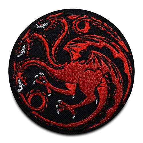 Finally Home Mehrköpfiger roter Drache Patch zum Aufbügeln | Patches, Bügelflicken, Flicken, Aufnäher