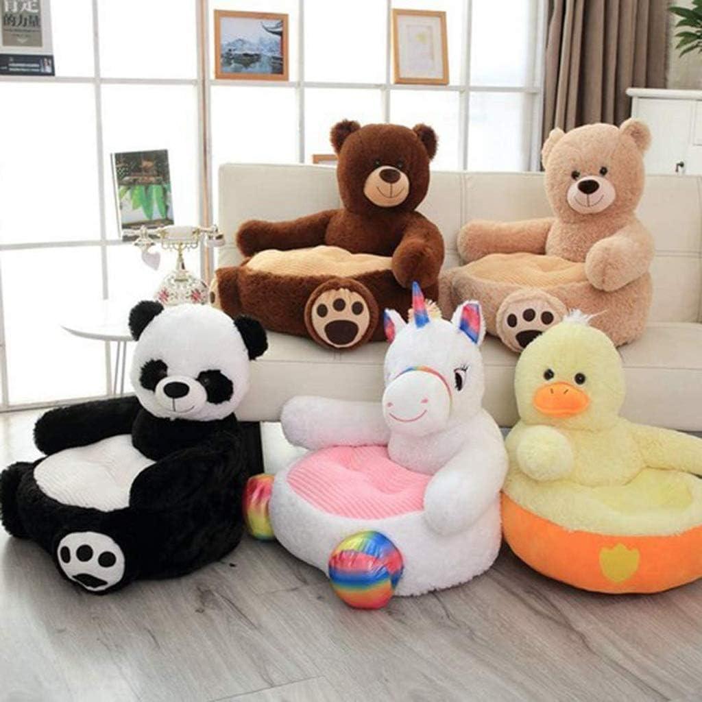 Diaod Peluche Pliable Enfants Sofa Chaise Mignon Dossier Doux Animal Sièges Bean Bag Fauteuil for Chambre Salle de Jeux (Color : D) C
