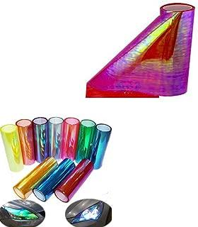"12/""X24/"" HEADLIGHT//FOGLIGHT FILM COVER TINT VINYL WRAP SHEET CHAMELEON PINK P1"