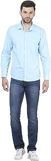 Crimsoune Club Blue Solid Men's Shirt