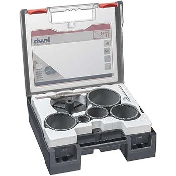 50mm Meccion Diamantbohrer-Kit L/öten Kern Lochs/äge Set Extractor Remover Werkzeuge Lochs/ägen Durchmesser 6mm 11 St/ück