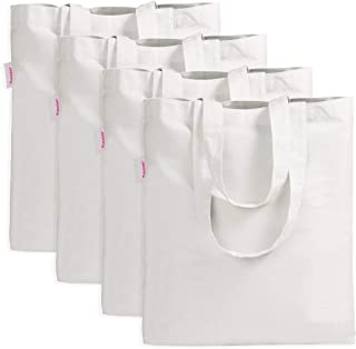 Pack of 4 Shopping Bag Crafting Decorating Bag White