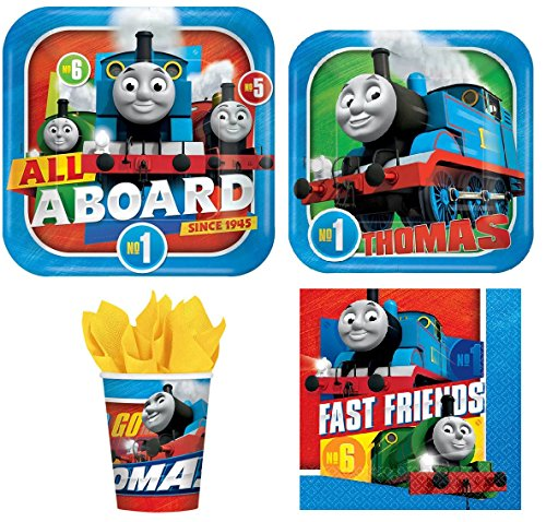 Disney Thomas The Train Value Pack Birthday Party for 8 Guests ( Plates, Cups, Napkins)
