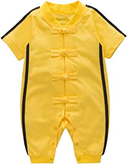XM Nyan May's Baby Toddler Boys Chinese Kung Fu Style Romper Onesie Outfit