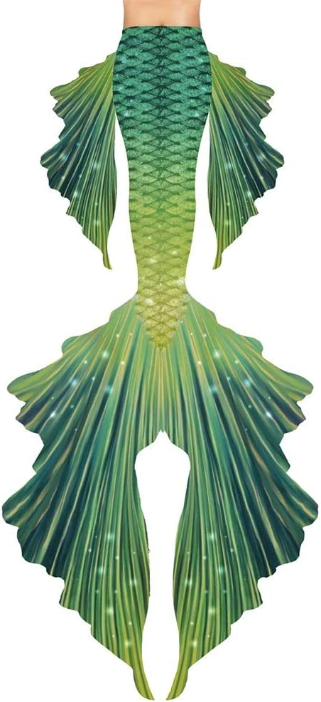 WWWFZS Mermaid Tail for Swimming for Kids,Swimsuit Mermaid Tail,