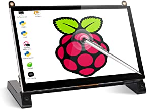 Touchscreen Monitor, 7 Inch Portable USB Monitor Raspberry Pi Touch Screen IPS Display Computer Monitor 1024X600 16:9 HDMI Game Monitor for Pi 4/3 /2/ Zero/B Raspbian Ubuntu Xbox /PS4 Mac
