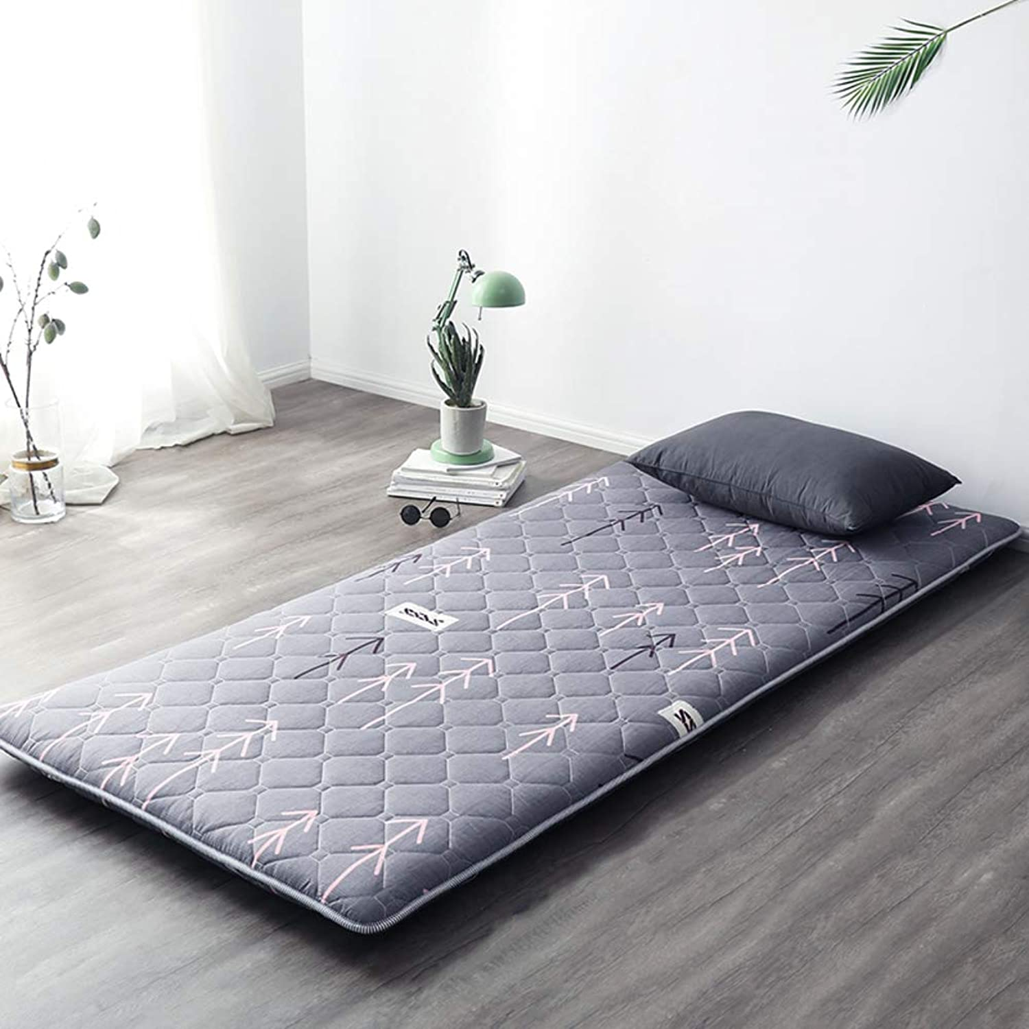 Quilted Fitted Floor Futon Mattress Japanese Bed Sleeping Pad Matt Mat Foldable Roll Up -k 120x200cm(47x79inch)