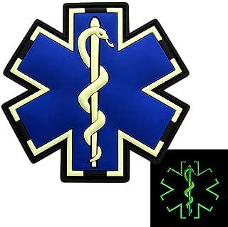 Miltacusa EMT Medic EMS Paramedic PVC Rubber Hook Patch (2.5 inch PVC-Glow Dark)