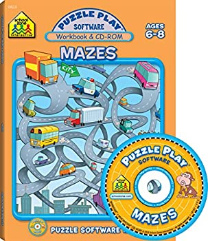 Paperback Mazes: Puzzle Play Software, Ages 6-8 Book