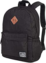 School Backpack Lightweight, Unisex Classic Backpack for Men Women - Black