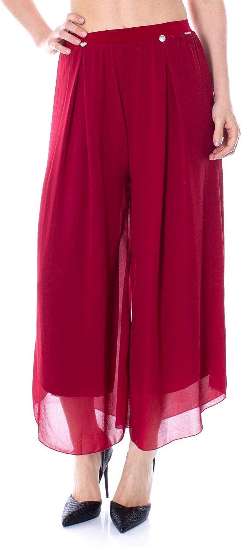 Akè Women's F551YAI302RED Red Polyester Pants