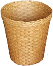 LONGren Rattan Waste Basket Plastic Woven Household Paper Wastebasket Trash Can Garbage Waste Bin Container for Kitchen, H...