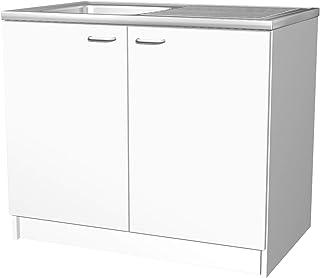 Wunderbar Flex Well Spülenunterschrank BOCHUM   Spülenschrank Mit Spüle   Breite 100  Cm   Weiß