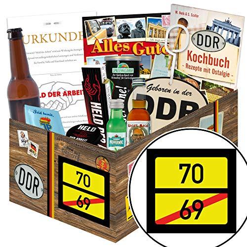 Ortsschild 70 ++ Geschenke zum 70 Geburtstag für Frauen ++ DDR Männer Geschenke