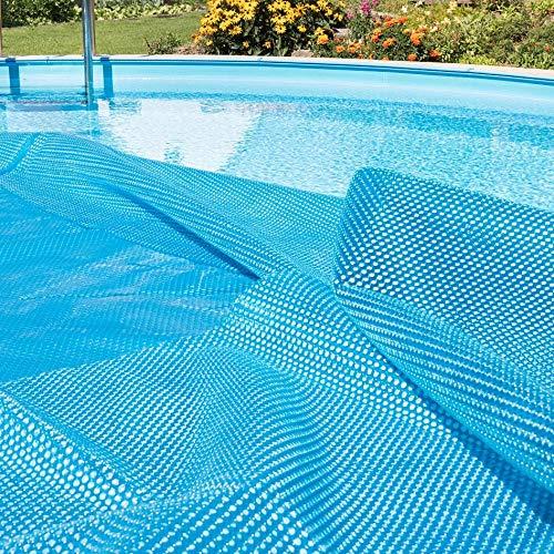 JLXJ Cobertor Solar Piscinas Rectángulo Cubierta de Piscina Solar Azul, Flotante Térmico Manta de SPA Lona de La Tina Caliente, Verano Invierno Resistente Al Agua Tela de Burbujas