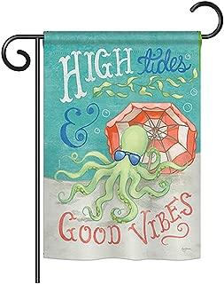 Breeze Decor G157062 Octopus Good Vibes Coastal Nautical Impressions Decorative Vertical Garden Flag 13
