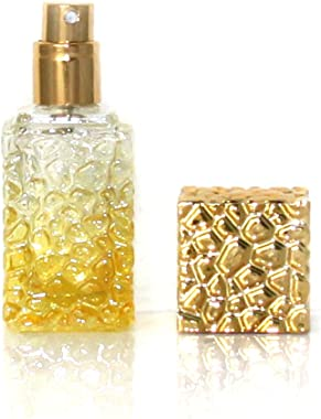 Jolly Metalic cover Slim cube glass bottle perfume atomizer spray 20ml for pruse or travel refillable/ fragrance refillable s