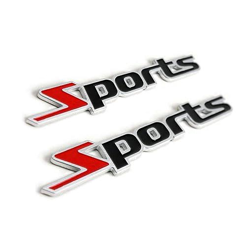1x Racing Car SPORT Emblem Fender Badge Sticker Car Metal 3D Stickers Universal