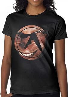 GMSQJ-Top Women's Funny Aphex Twin Logo Tee Black