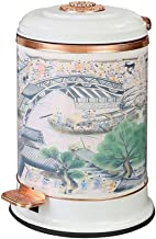 Recycling Bin Stainless Steel Trash Can Step Foot Pedal Trash Bin Retro Garbage Container Bin Wastebasket for Living Room ...