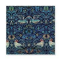 INOV ウィリアム·モリス-花と鳥 パターン アートパネル アートフレーム キャンバス絵画 インテリアパネル インテリア絵画 壁飾り木枠セット Arts 新築飾り 贈り物