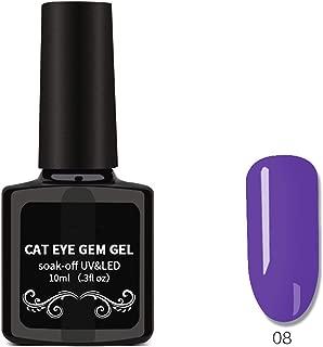 Cat Eyes Nail Polish, Nail Art Removable Nail Polish, Magnet Gem Wide Cat Eyes Colored Glass Star Glue 06,06