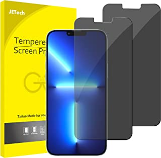 JETech Privacy Schermbeschermer Compatibel met iPhone 13 Pro Max 6,7 Inch, Anti-Spy Gehard Glas Screen Protector, 2-Stuks